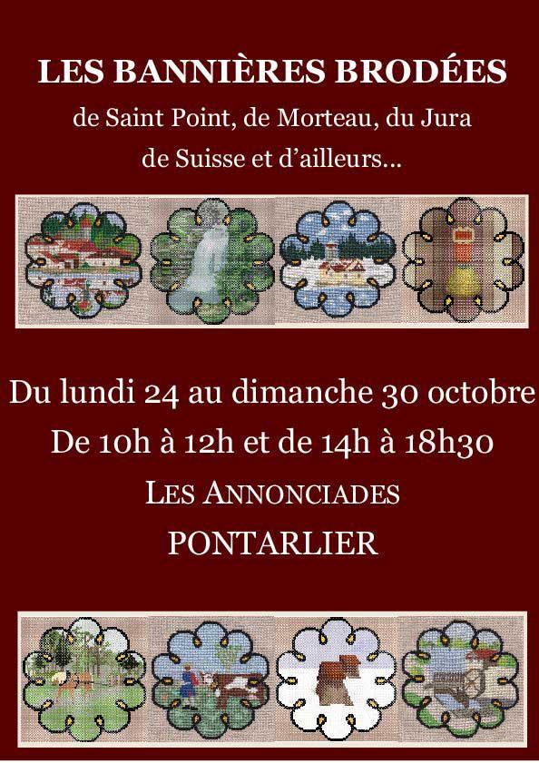 Bannières brodées à Pontarlier