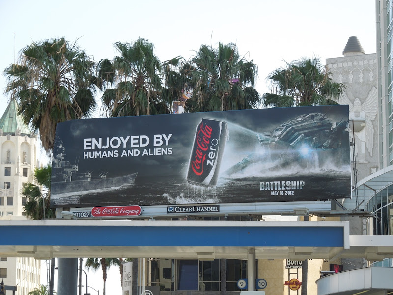 Coke Zero Battleship billboard