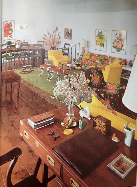 Vintage 1970s Living/Dining Space, Vintage Decor Images