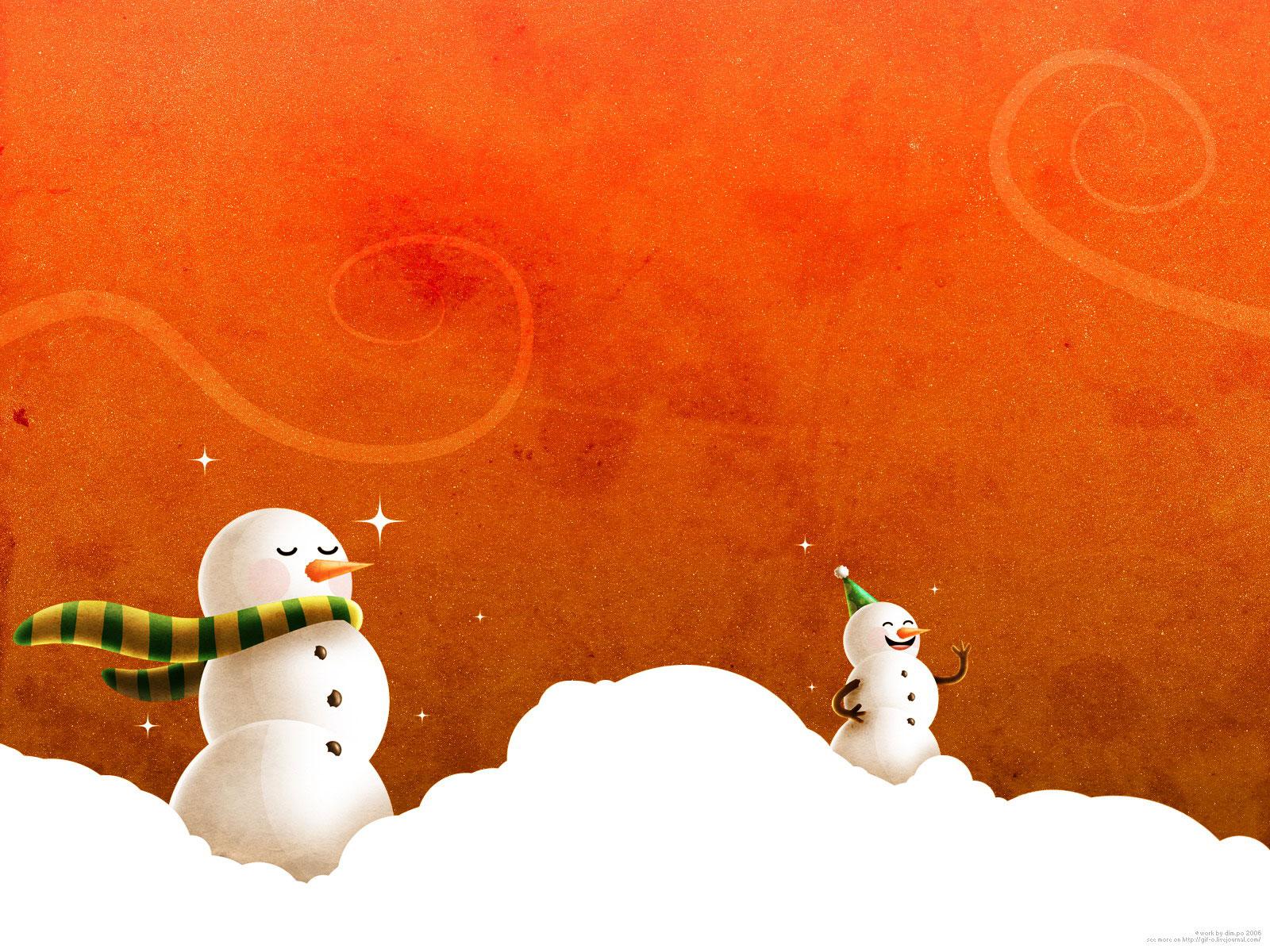 Wallpaper hombre de nieve