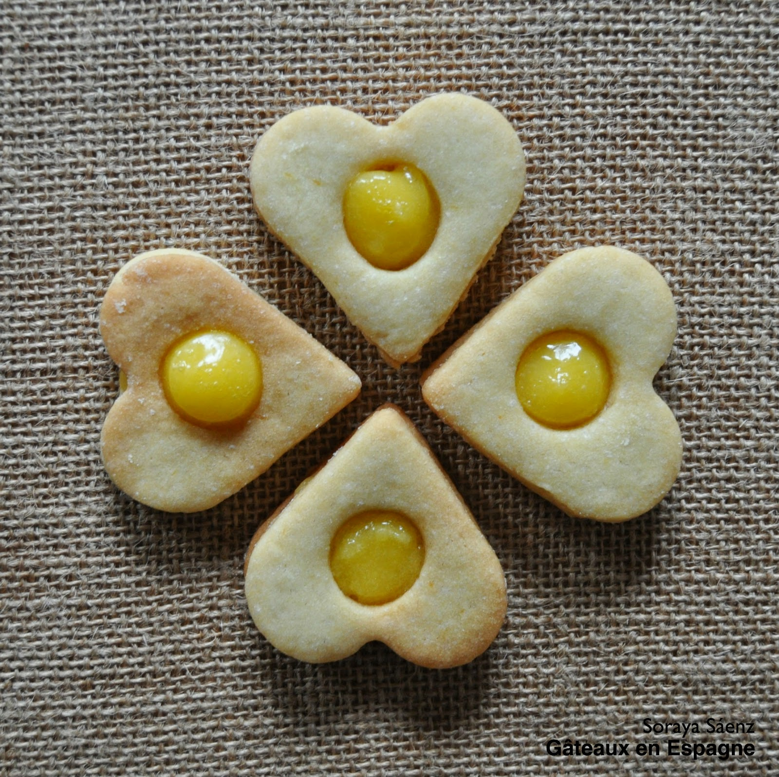 biscuits sables citron fourres lemon curd
