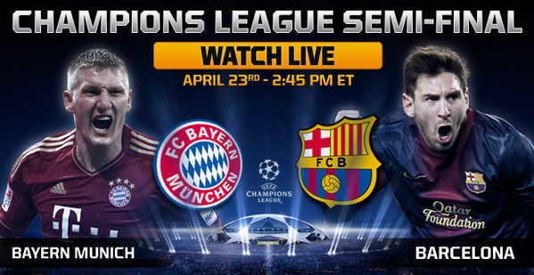 KEPUTUSAN BAYERN VS BARCELONA VS BAYERN UEFA CHAMPIONS LEAGUE SEMI FINAL SEPARUH AKHIR 24 APRIL 2013