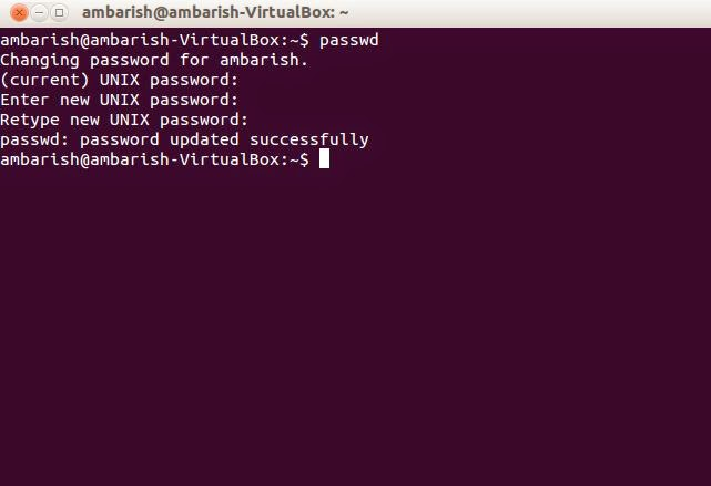 How to Change Password in Ubuntu