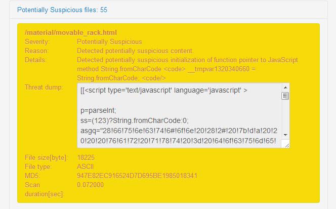 Quttera | Malicious JavaScript detection