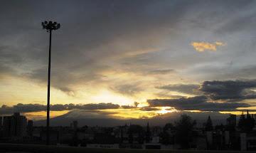 El Popocatepetl desde Puebla
