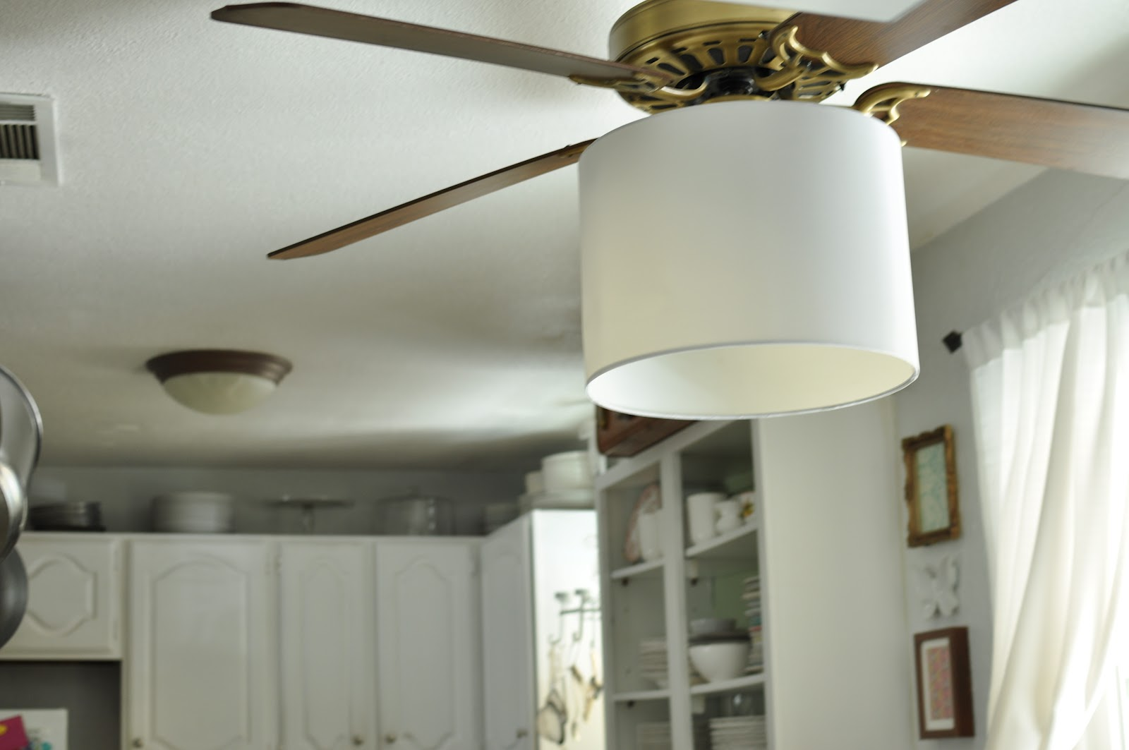 Domestic fashionista lamp shade ceiling fan aloadofball Images