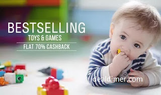 Best Selling Toys & Games Extra 70% Cashback