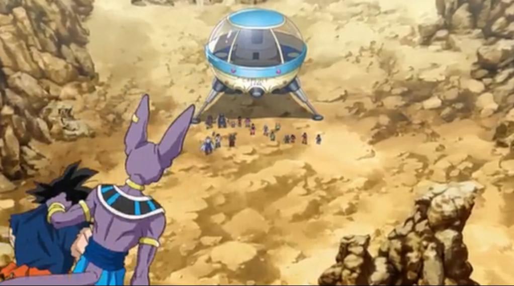 Bill, Goku as approaching Earth after the battle