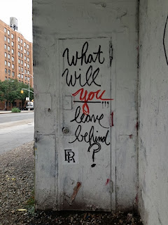 what will you leave behind, leaving behind, street art, graffiti, wall art, spray painting buildings and walls, spray paint, streetart, graffiti scene in New York City, NYC walls and buildings, dealing with pain and struggles, new books to read, living in New York