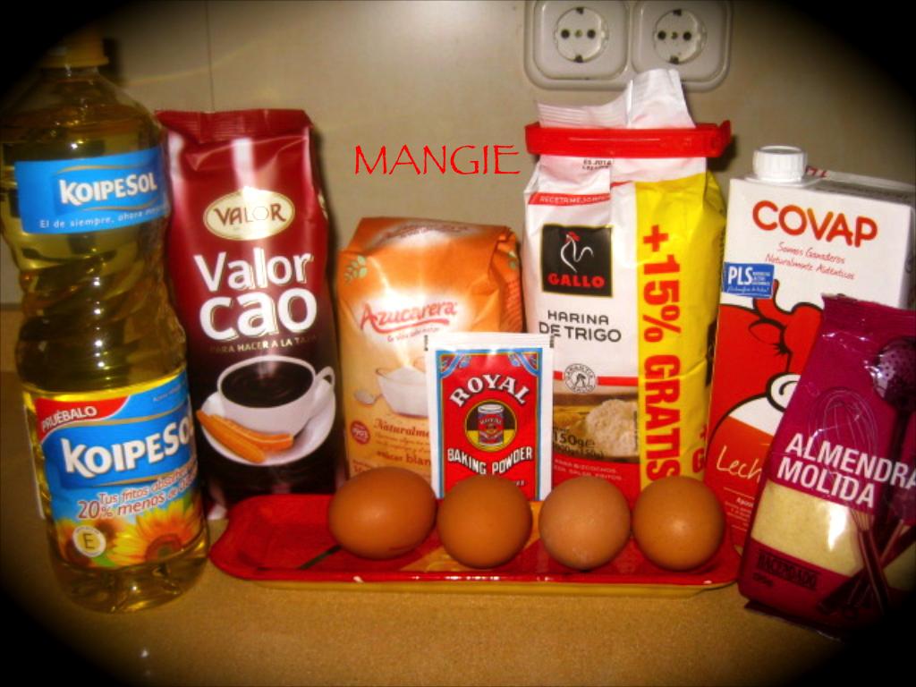 Ingredientes tarta Sacher