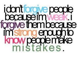 Memaafkan karena Anda pribadi yang KUAT, bukan LEMAH.