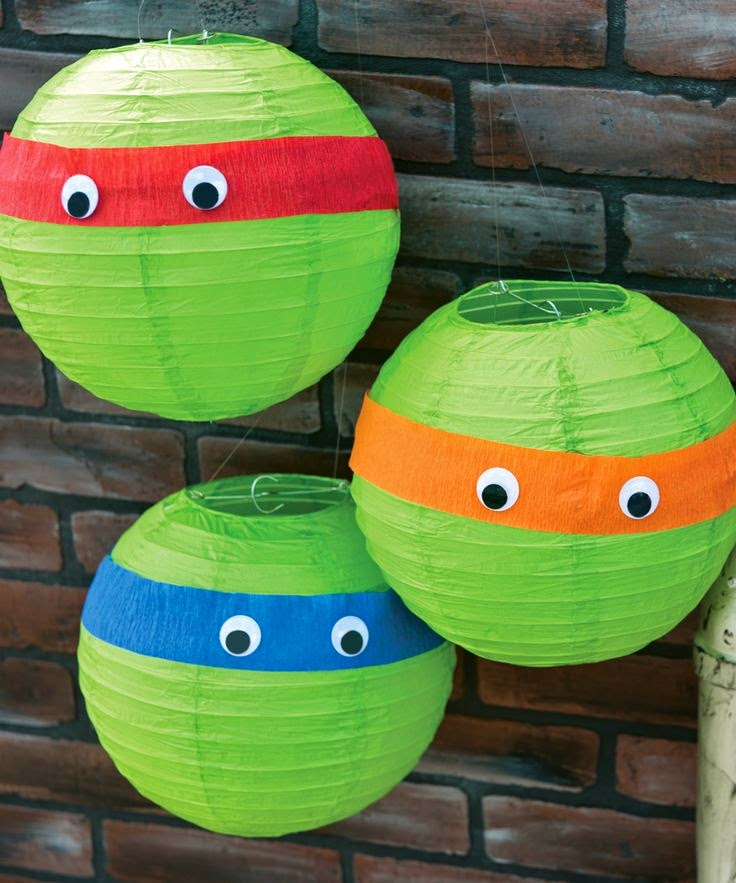 TMNT Party turtle lanterns