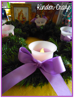 use battery-operated candles on a classroom Advent wreath