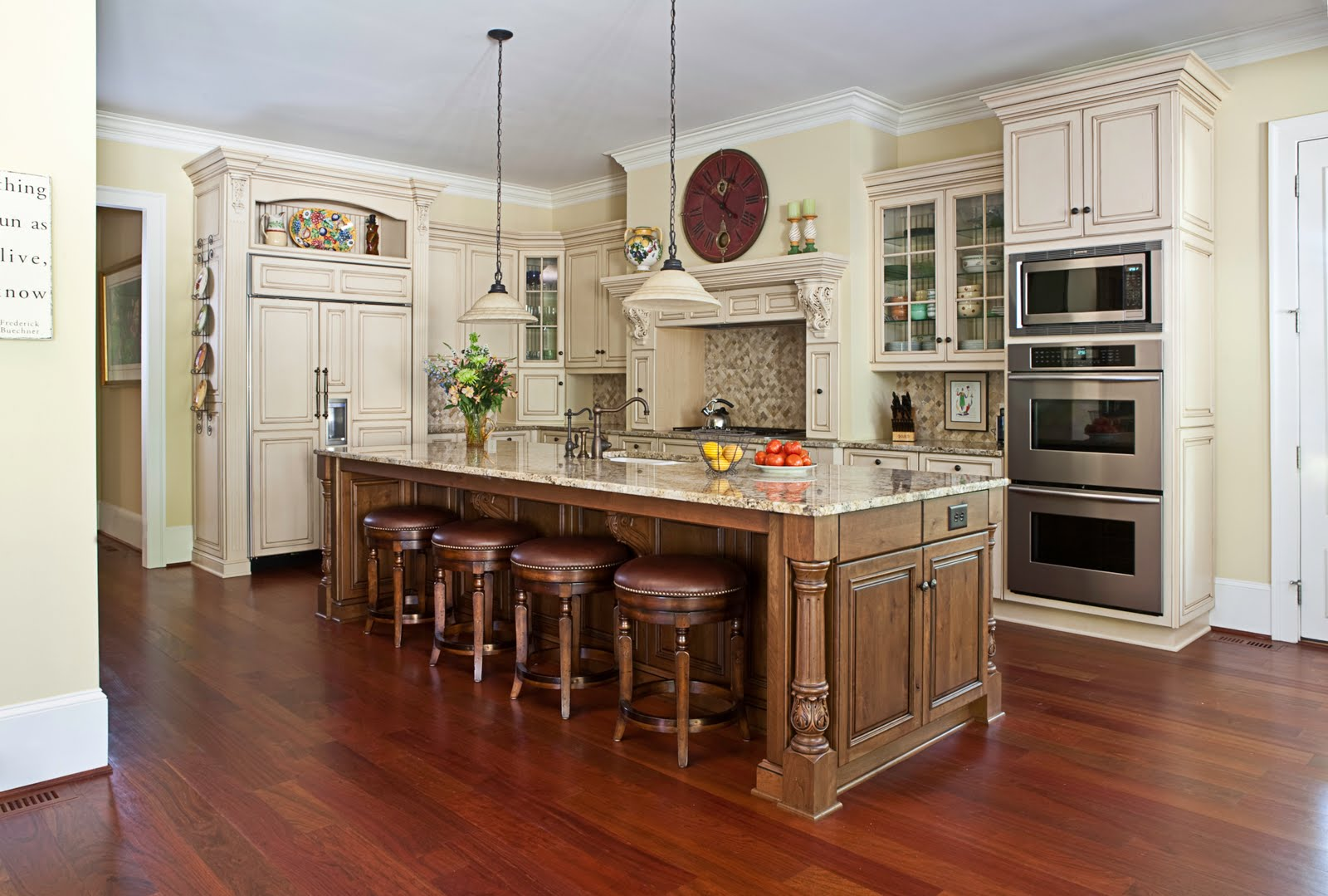 Cheryl smith associates interior design what height for Kitchen island height