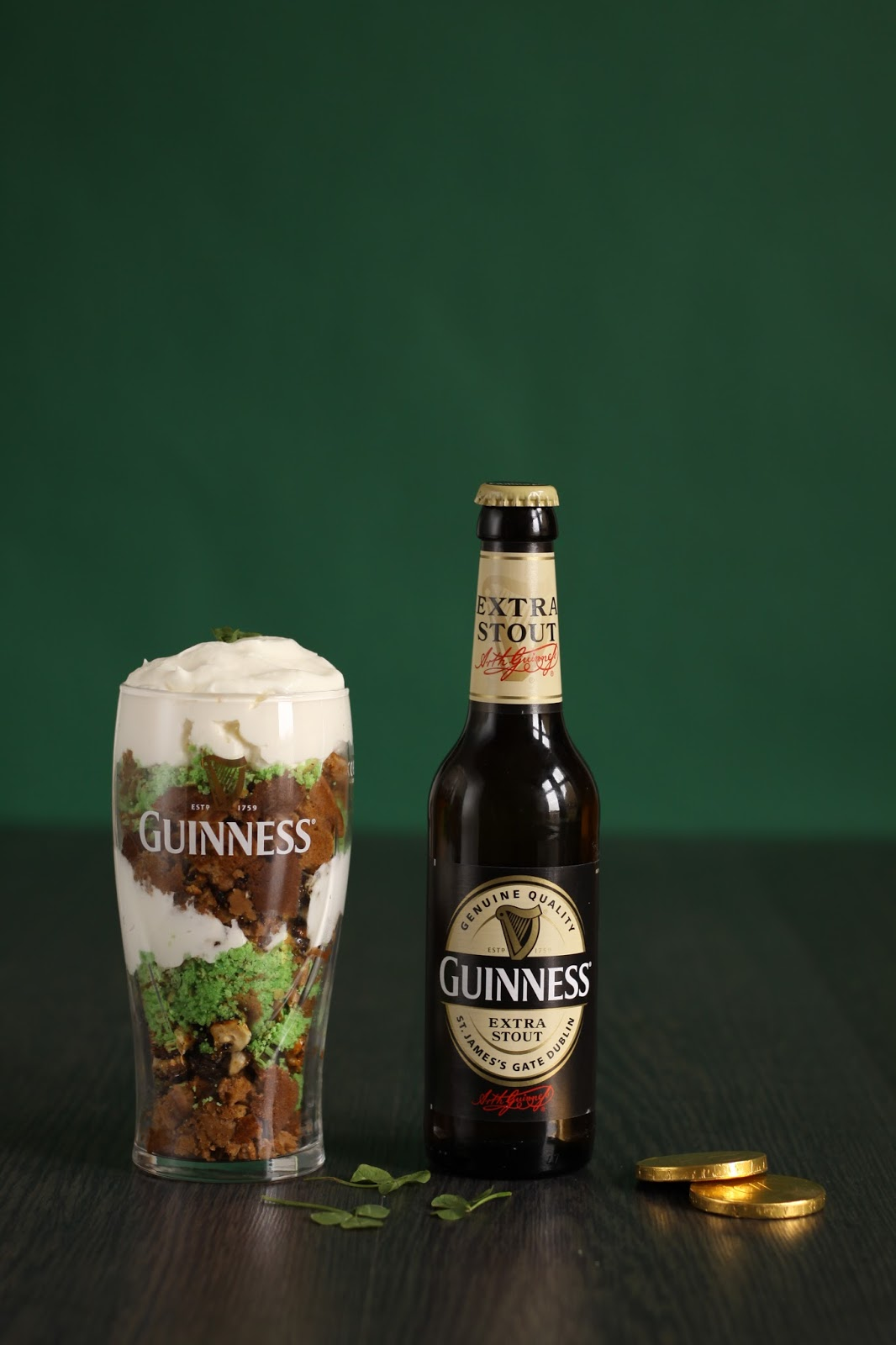 Get ready for the St. Patrick's Day party with these lucky Pancake Pints! Crumbled Beer Pancakes soaked in homemade Guinness maple syrup and mixed with caramelized hazelnuts and Irish whiskey cream. Recipe brought to you by Pancake Stories.