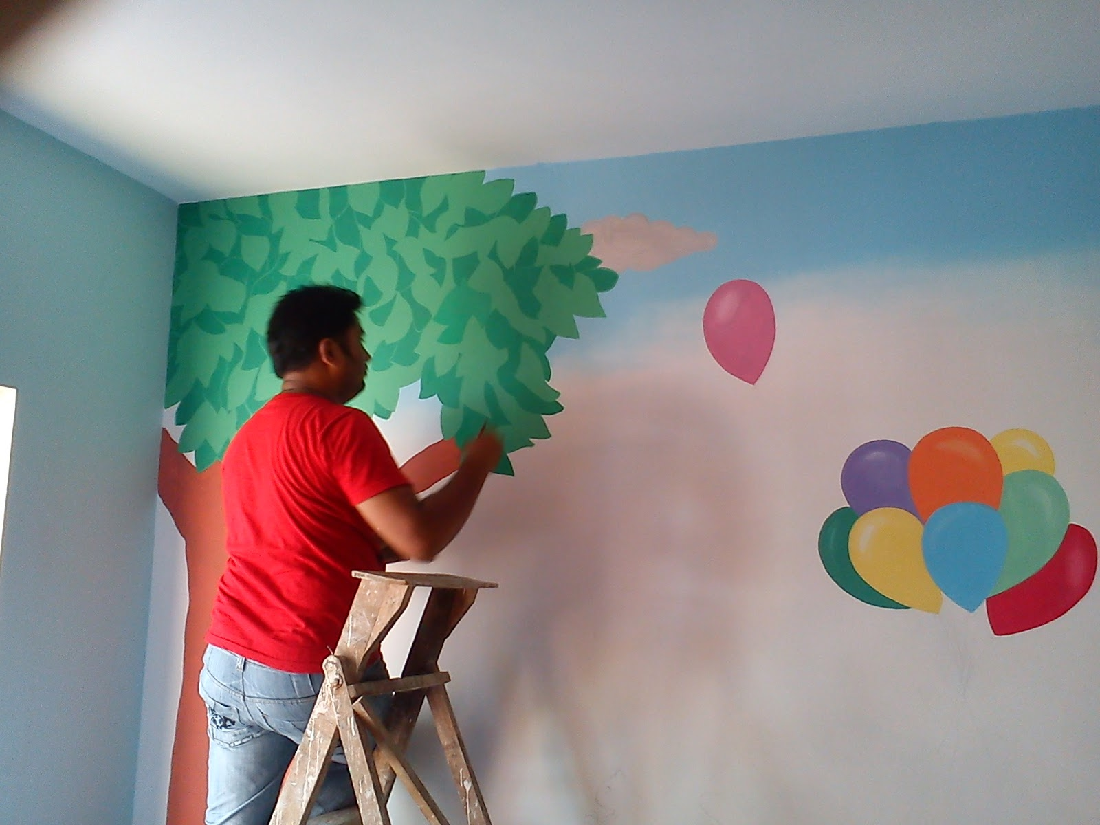 Play school classroom wall murals benglore kolkata for Classroom wall mural ideas