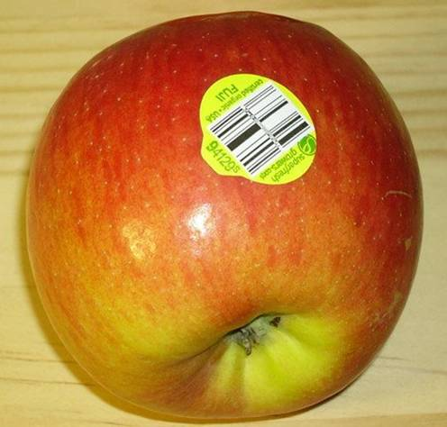 """Avoid buying Fruits that have labels with """" 8 """""""