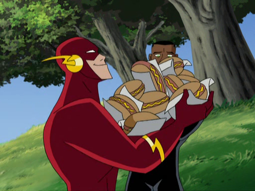 Pros : Wally's growth during the Justice League cartoon waswell ...