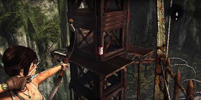 El arco es el objeto más usado por Lara.
