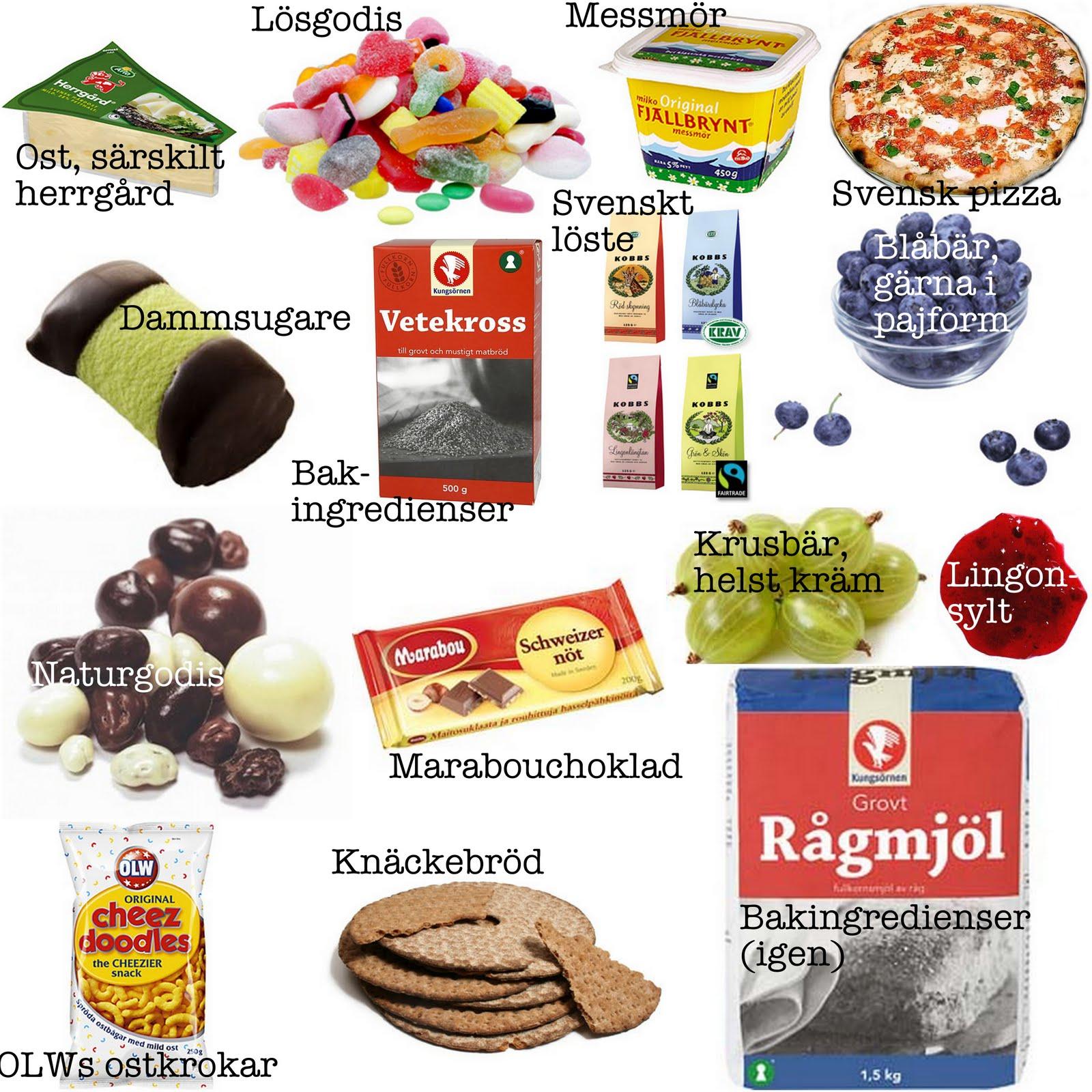 svensk mat utomlands