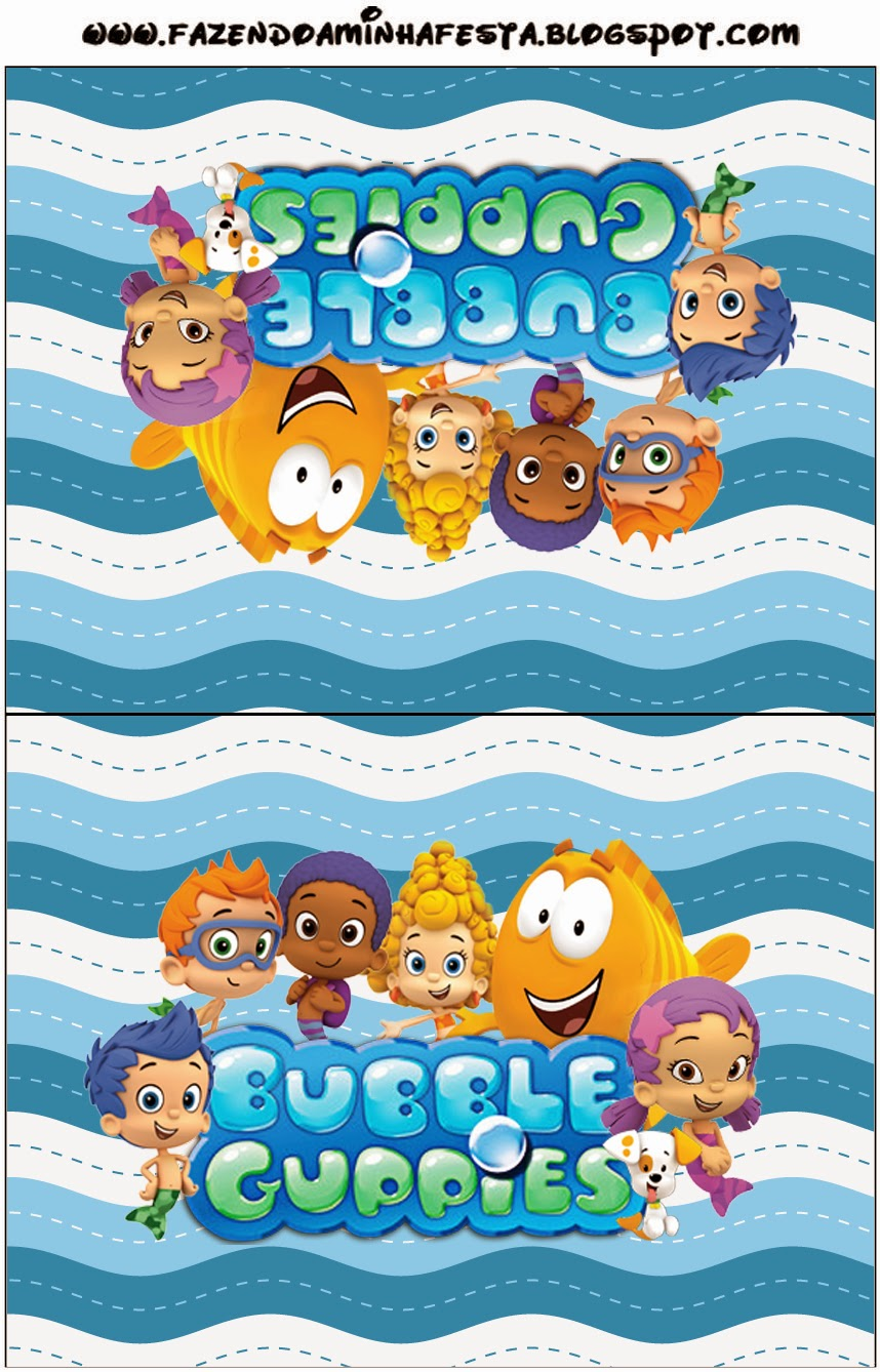 It is a graphic of Dramatic Free Bubble Guppies Printables