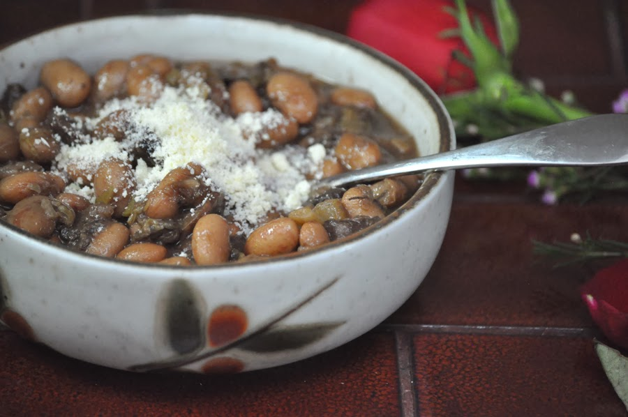 Winter Comfort Food: Borlotti Bean Soup with Porcini Mushrooms