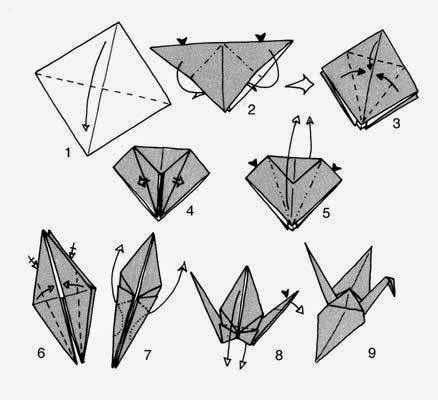 image about Origami Crane Instructions Printable referred to as printable recommendations for origami crane ~ basic origami young children
