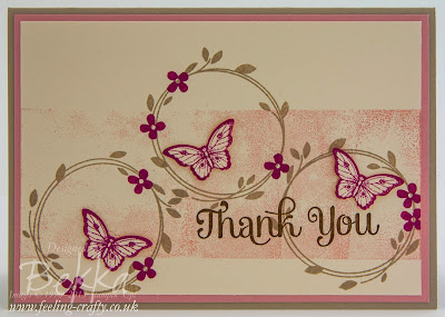 Pretty Thank You Card featuring Your Perfect Day and Papillon Potpouri Stamps from Stampin' Up! UK