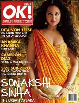 Sonakshi Sinha on OK magazine