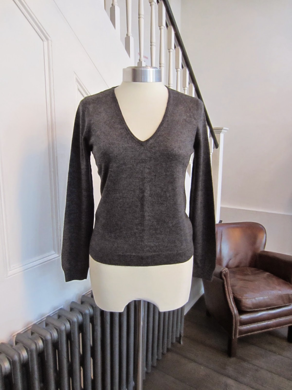 Joseph Grey Fine Wool Knit