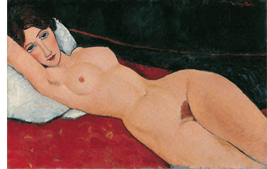 Desnudo reclinado por modigliani