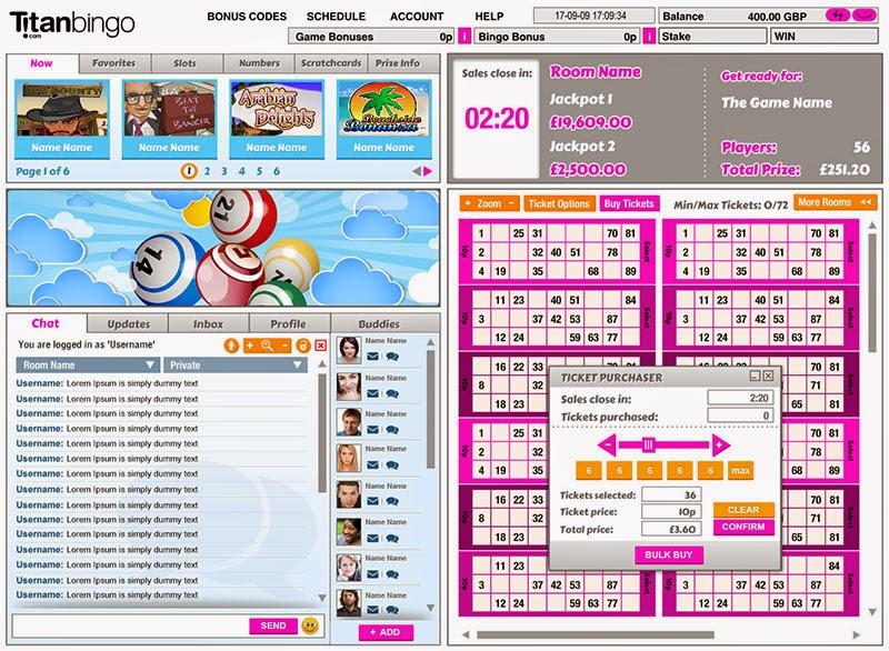 Titan Bingo Card Screen