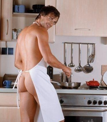 naked male fucking at kitchen