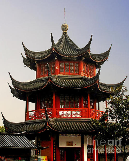 Buddhist Pagoda Shanghai China