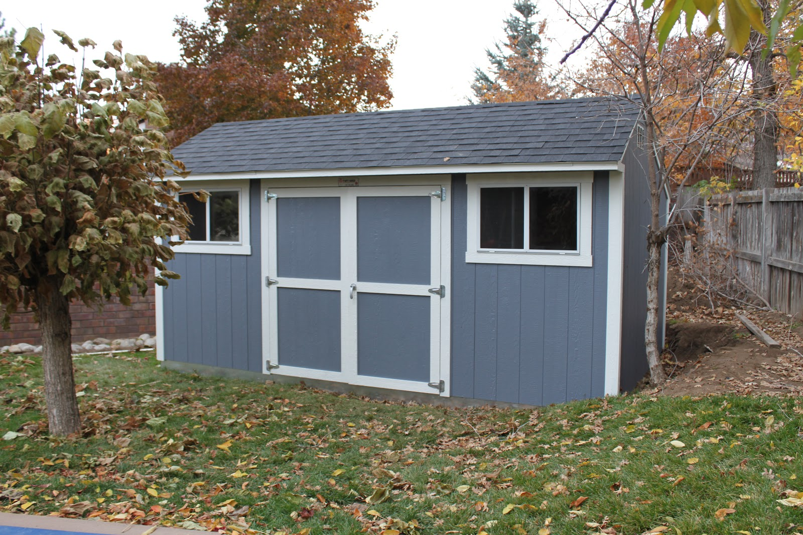 Our new backyard shed for Tuff sheds