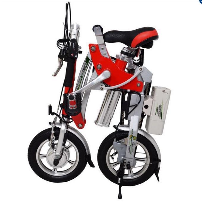 "Harga Sepeda Listrik Lipat Dynabike Flex12"" - Merah"