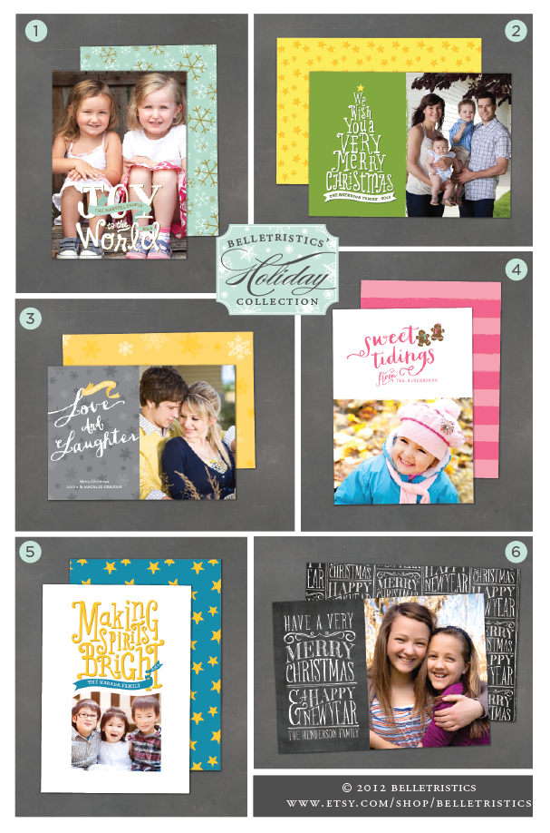 hand lettered photo card, hand lettering, printable christmas cards, diy family photo cards