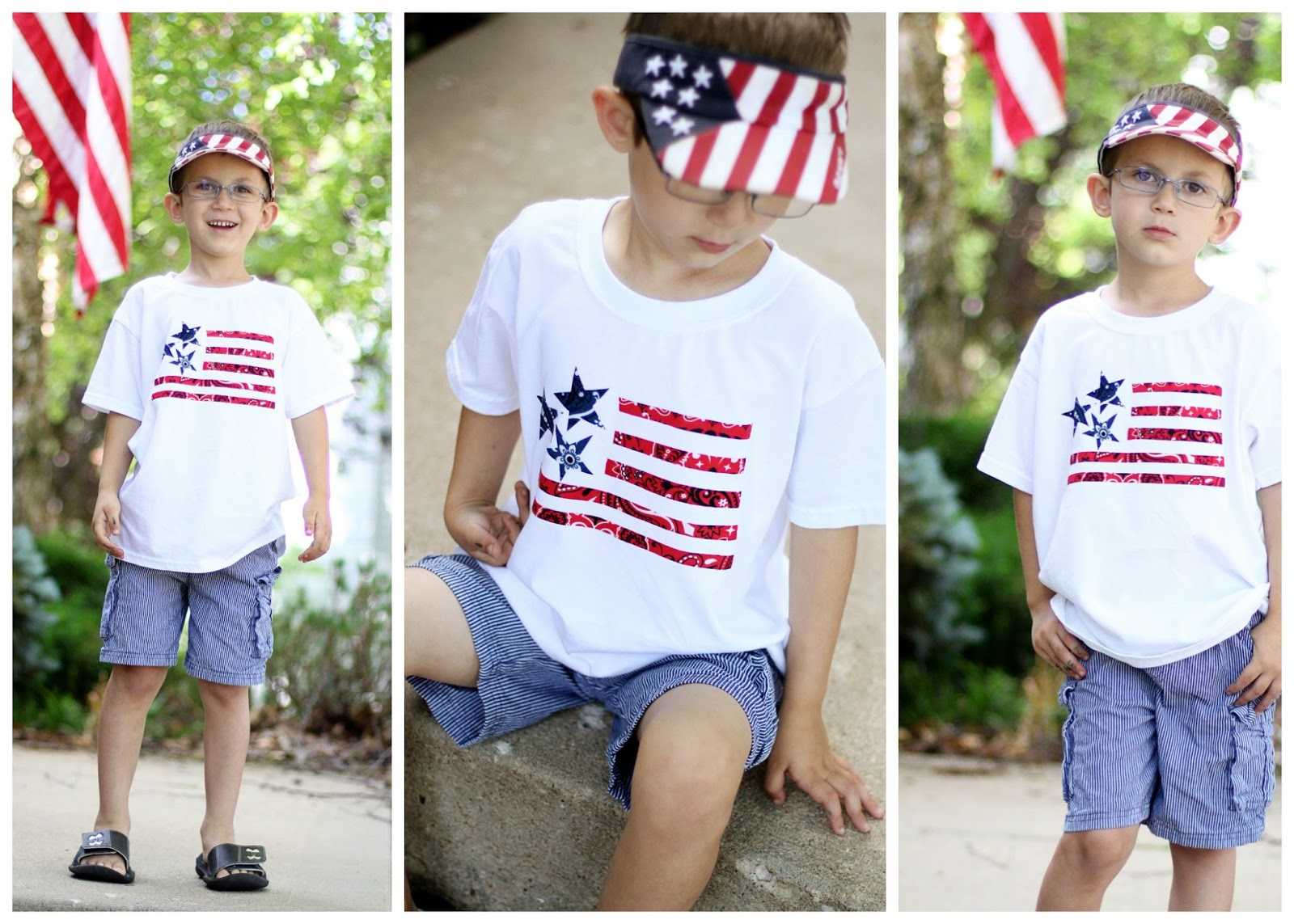 Bandana flag t shirt sugar bee crafts for Where can i create my own shirt