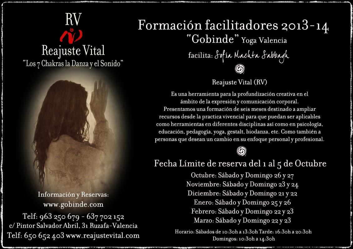 Formación de facilitadores 2013-14 de Reajuste Vital en Gobinde yoga Valencia