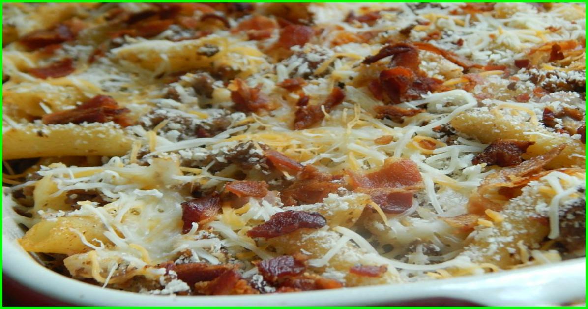 weight watchers recipes | Bacon cheeseburger pasta bake