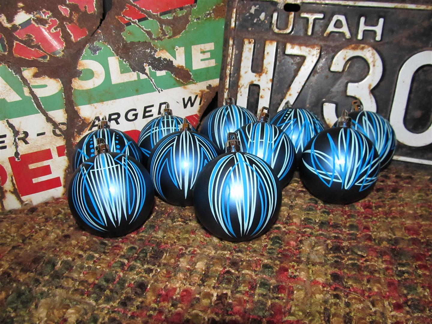 Pinstriped Christmas Ornaments!!!