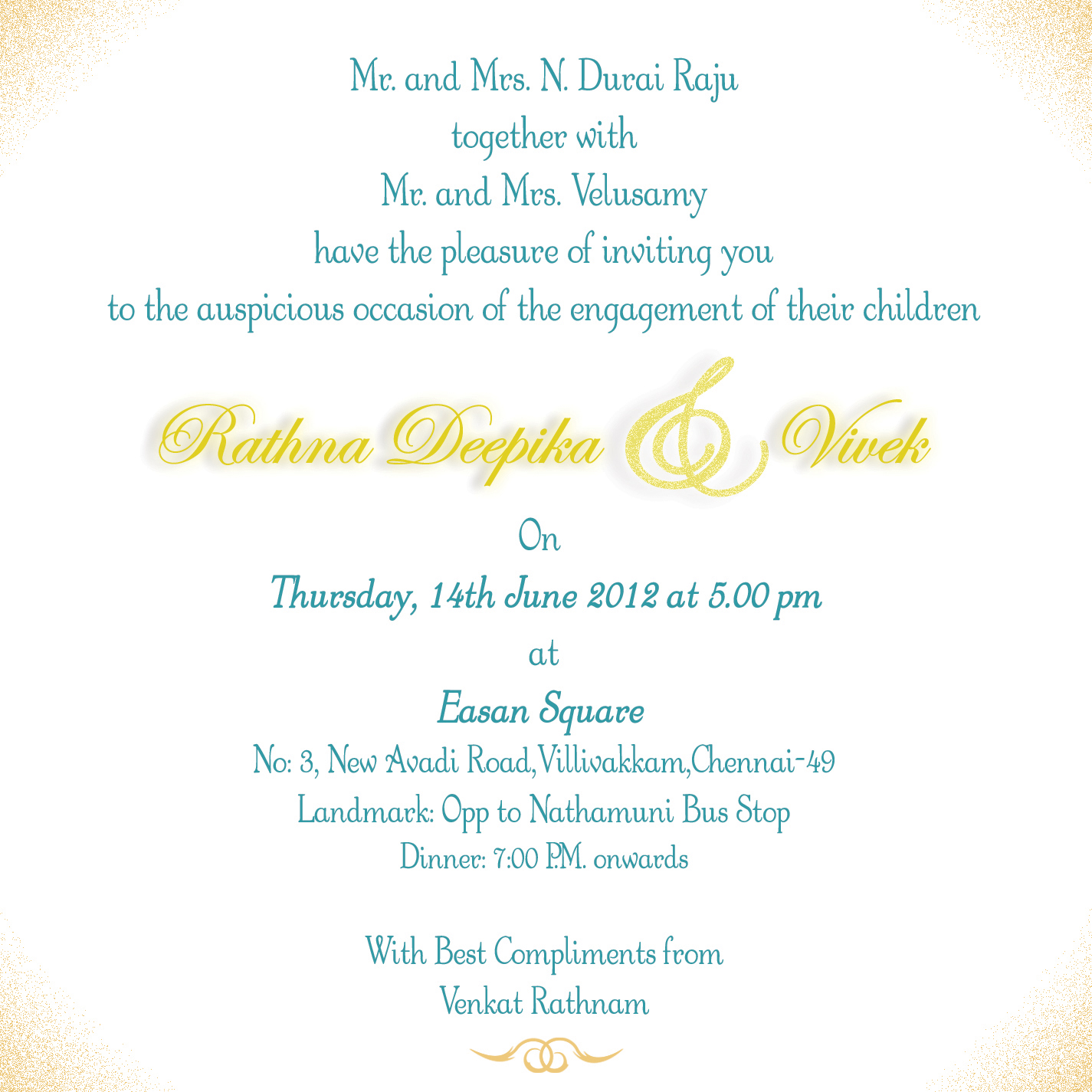 Engagement Invitations Envelope