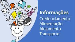 Credenciamento, alimentação, alojamento e transporte