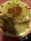 Tilapia, White Rice and White Beans