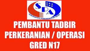 Tarikh Jadual Temuduga SPA 2015 Pembantu Tadbir (Perkeranian/ Operasi) Gred N17