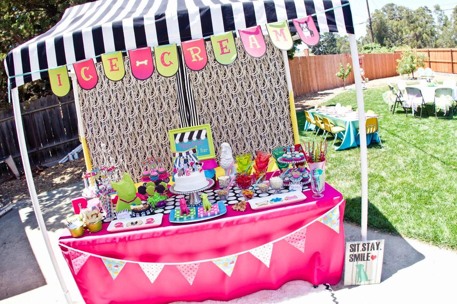 Puppy Party Dessert Table with Canopy