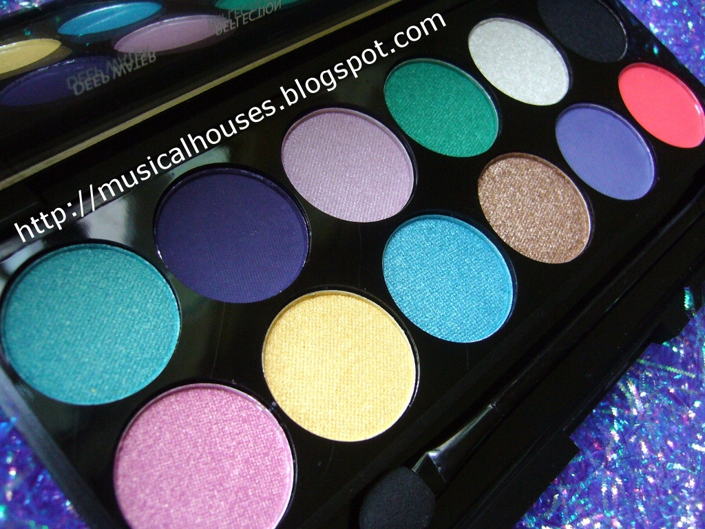 Sleek Lagoon Eyeshadow Palette: Aqua Collection - of Faces and Fingers
