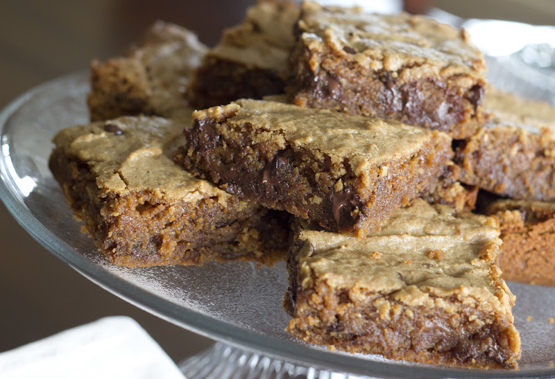 Peanut Butter Chocolate Chip Blondies – Natural Sweet Recipes