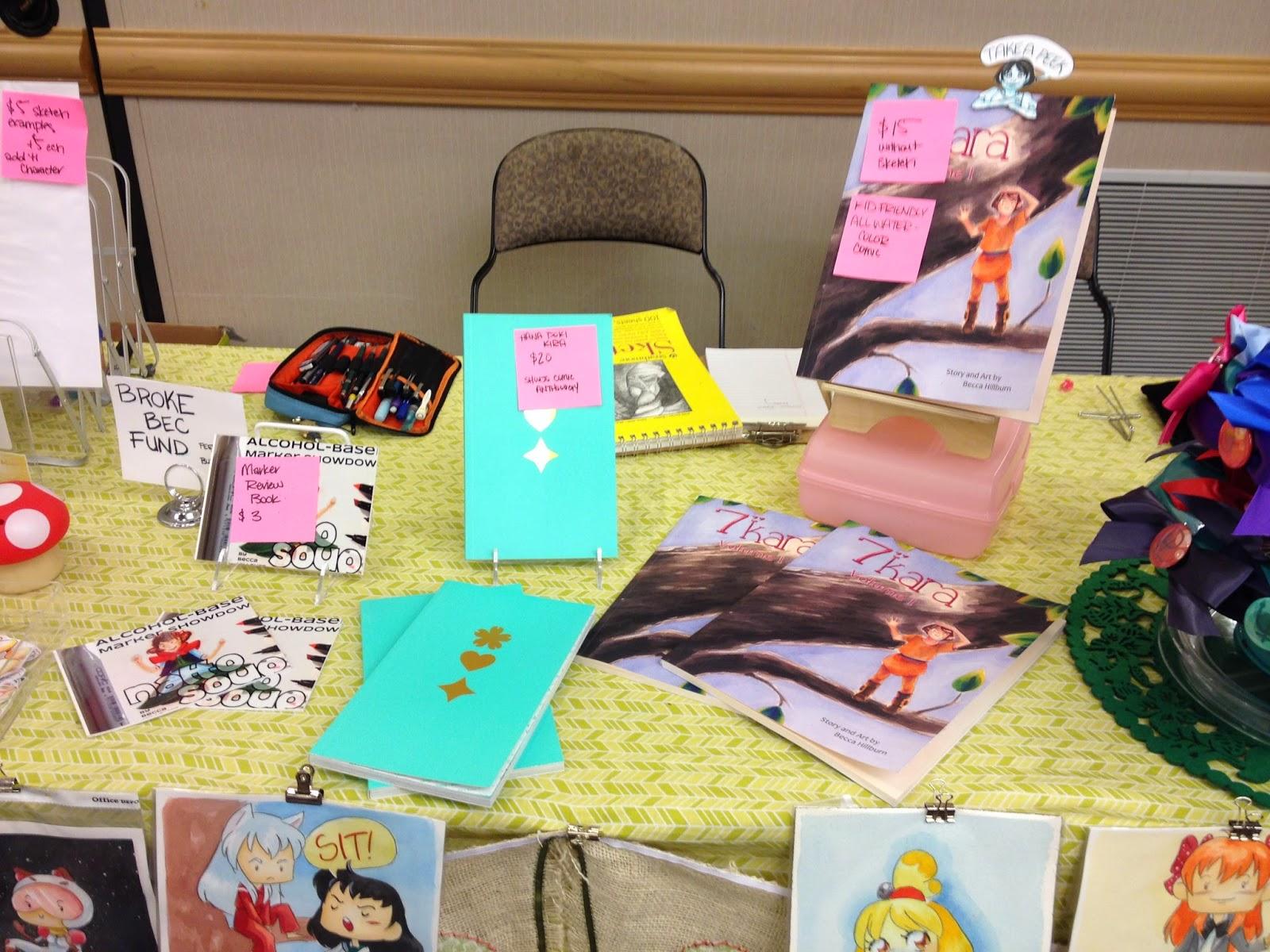 "7"" Kara, kid's watercolor comic, Hana Doki Kira, anthology comic, anime convention"