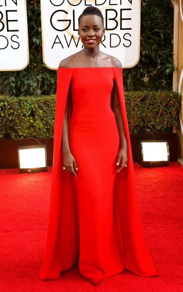 Lupita Nyong'o de Ralph Lauren Globos de oro 2014